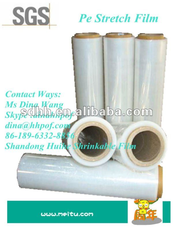 Machine use jumbo roll stretch film for further process into small rolls