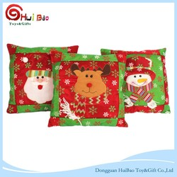 45*45cm Pillowcase Christmas Theme Gift Cartoon Linen Fox Home/Car Decoration Santa Claus Wool Embroidery Throw Pillows Case