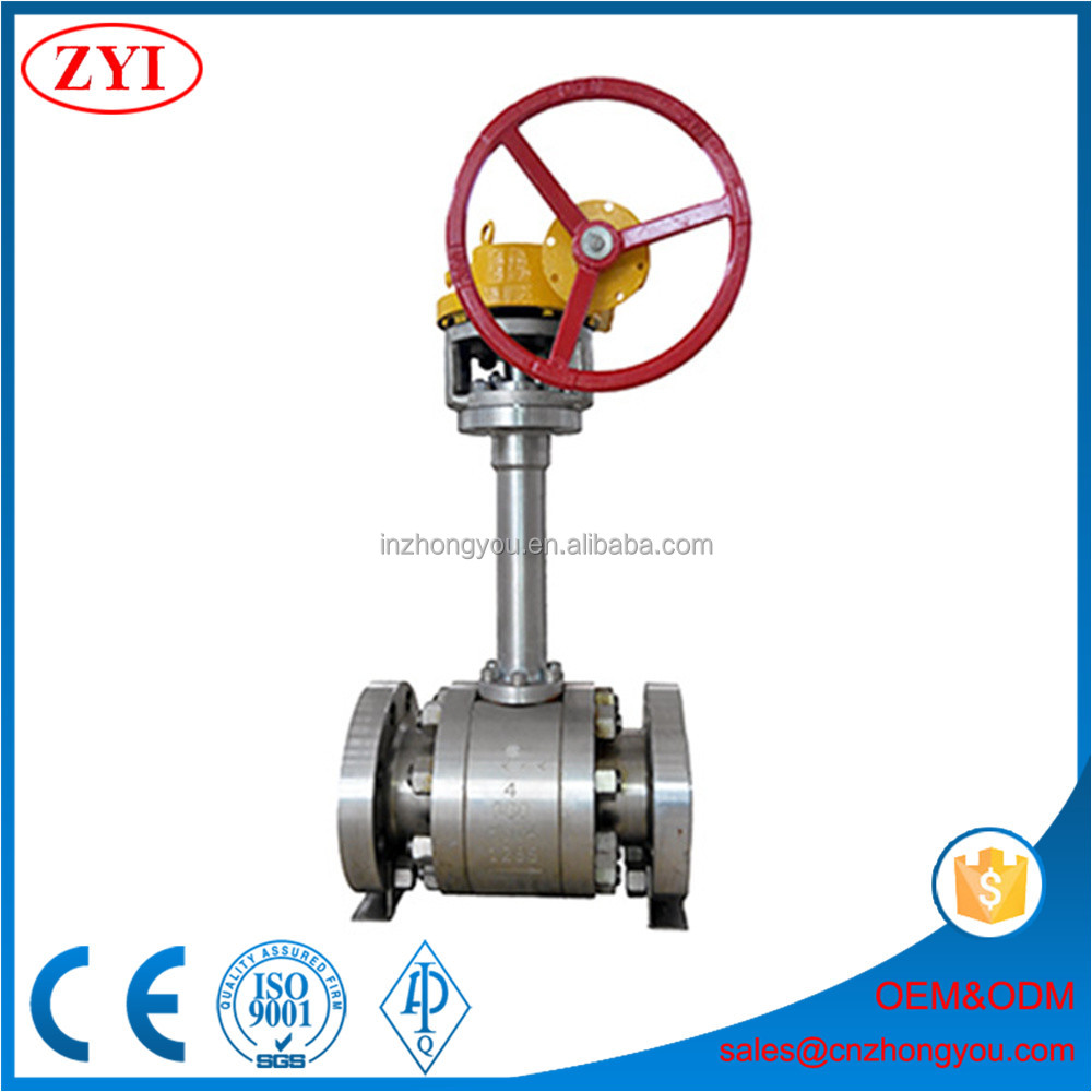 Customized extension 4m long stem buried cryogenic ball valve