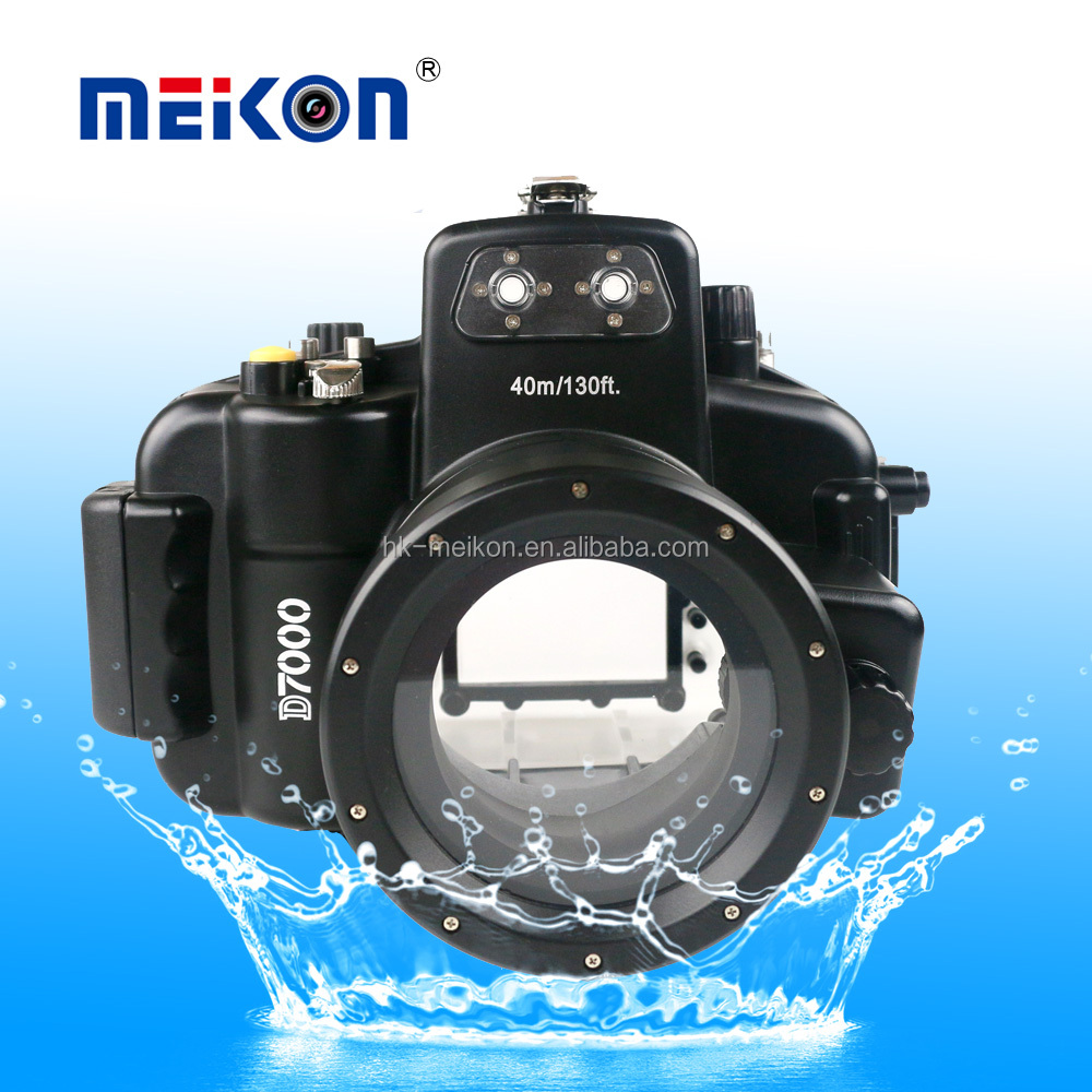 40m/130ft Underwater swimming Diving equipment camera waterproof case for Nikon D7000