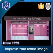 Fashion clothing shops display stands with baking finish dress plywood floor display
