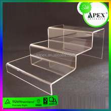 acrylic stair riser wholesale color step stand display riser,plexiglass 3 step riser display for retail