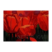 Wholesale Handmade Red Wall Decor Pictures of Unique Flowers