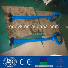 Long neck wafer butterfly valve