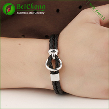 Professinal jewelry making supplies italian style wholesale leather bracelet
