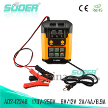 Suoer Intelligent Repair Mode Digital Display 12V 24V Automatic Battery Charger