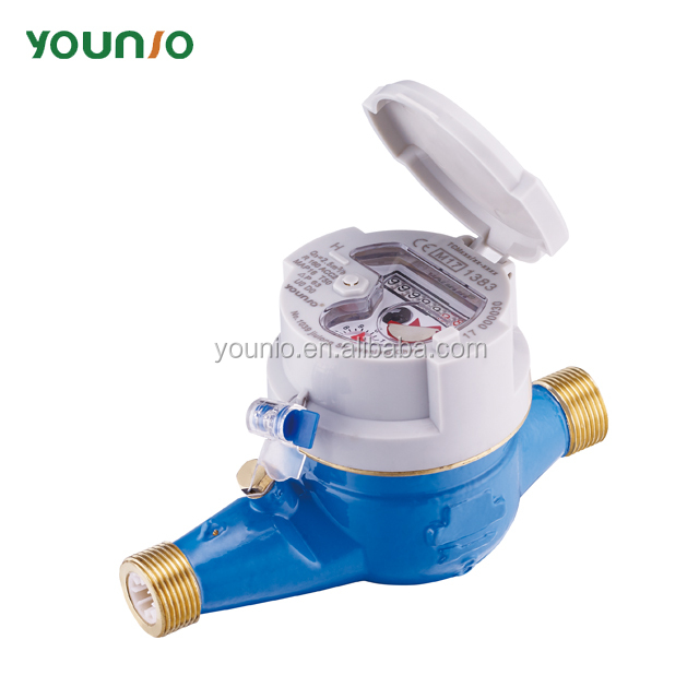 Younio Residential Water Meter Brass Body With A Pair Of Connectors And Nut