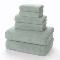 pinzon 6-piece egyptian cotton luxury towel set 650 gsm grey