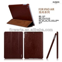 FL241 hot selling Simple Fashion Series leather case with stand for ipad air