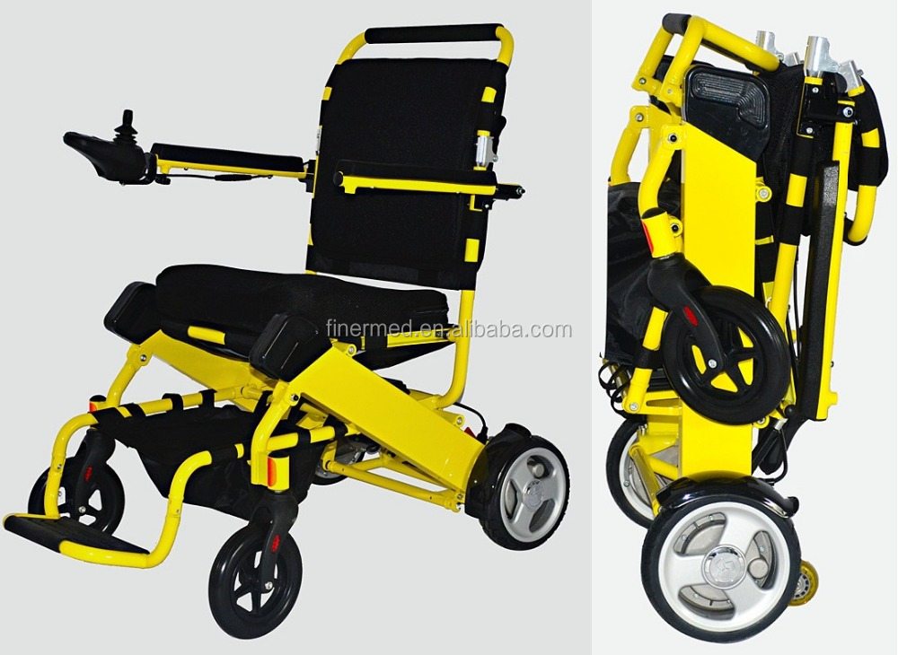 Ultra Light Travel foldable Compact power wheelchair with lithium battery
