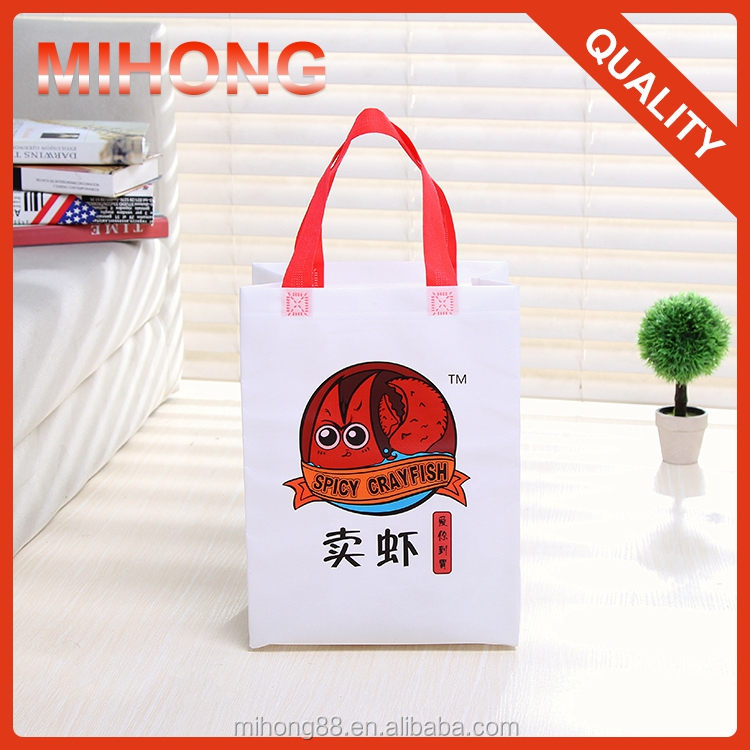 Promotional gift cute small size pp non woven laminated tote bag