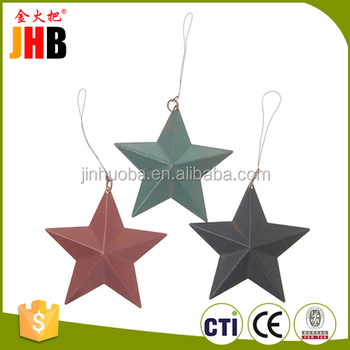2016 Christmas Decoration Metal Stars Three Colors