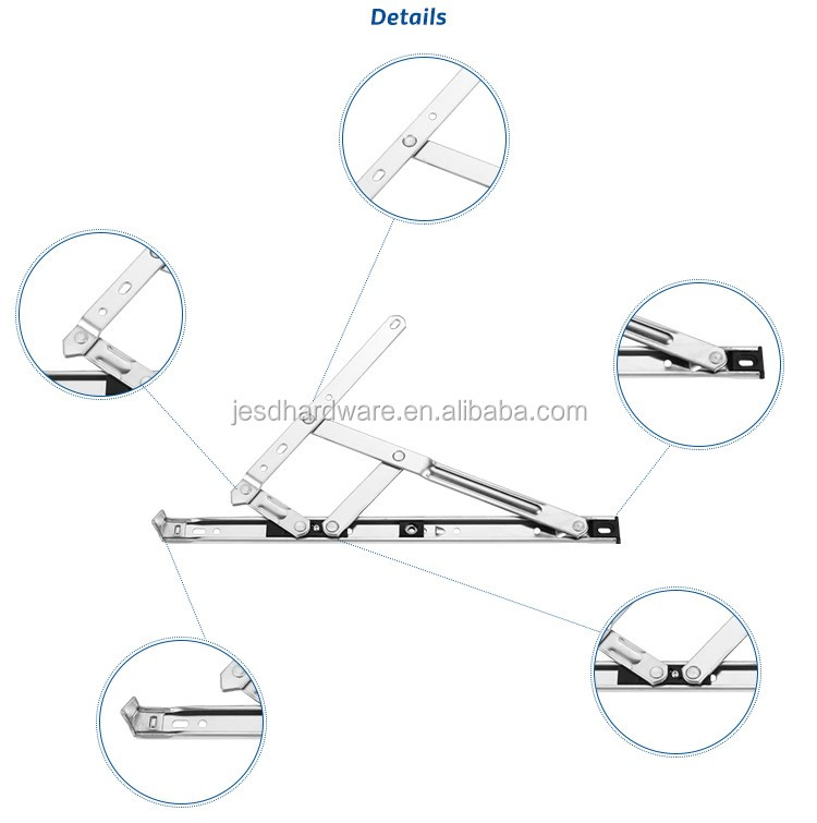 Durable SS304 friction stay for windows