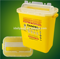 Hospital disposible medical sharps container medical safety box 8.0Liter