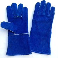 Blue Cow Leather Welding Gloves Cow