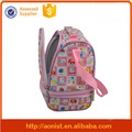 Beautiful flower printing girl cooler backpack with cooler compartment