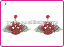 crystal animal paw print with angel wing accessories to make earrings(E102989)