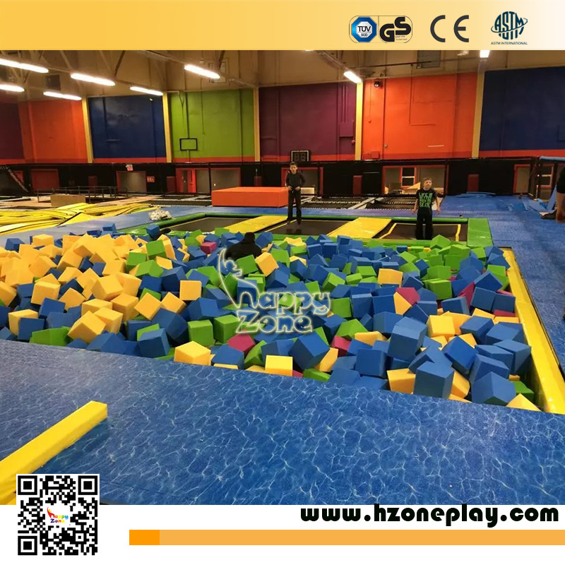 Trampoline Park Cushion Sponge Foam Cube Pit for Large Indoor Bungee Jumping Trampoline Bed