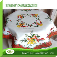 christmas bell printed disposable polyester table topper, table linen, table cloth