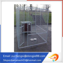 7.5' x7.5' x6' large hot dipped galvanized chain link mesh outdoor large dog kennel with cover