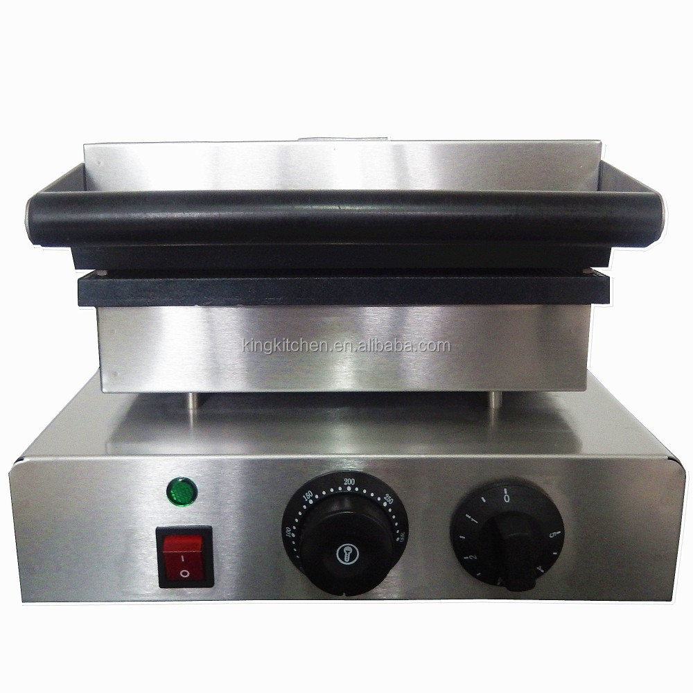 Non-stick commercial waffle cone maker / Electric wafer biscuit machine / Syryp crepe cake maker
