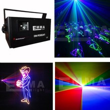 2W Laser RGB Full Color DMX ILDA Animation American gobos aser light