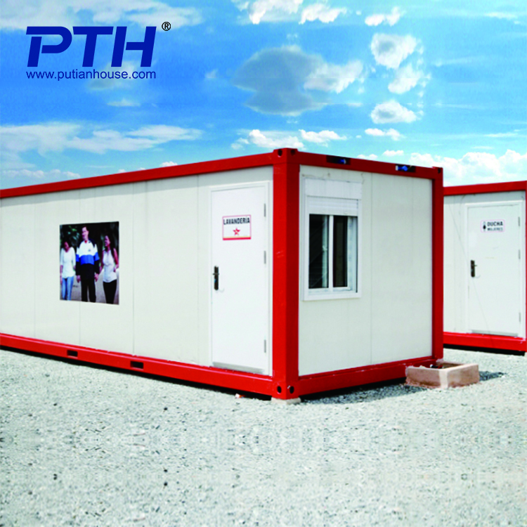Low cost security sandwich panel door container coffee shop