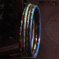 MECY LIFE 2015 wholesale slim bangle copper Cloisonne enamel bracelet