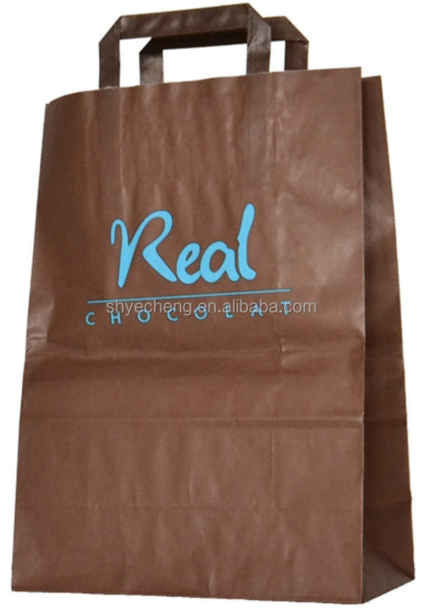 hot seller eco-friendly machine made brown kraft paper food bag wholesales manufacturer