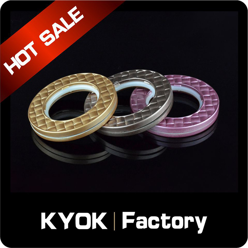 KYOK Decorative sliding iron curtain rod rings,0.5/0.6mm drapery pull rod ring,round shape curtain holder accessories