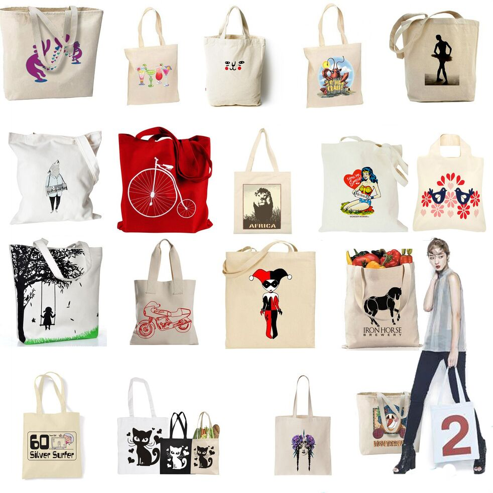 Promotional Recycled Foldable Fashion Style Reusable Cotton Bag