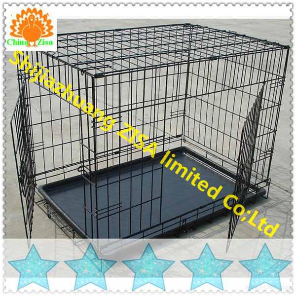 Wire Folding Pet Crate metal dog cage