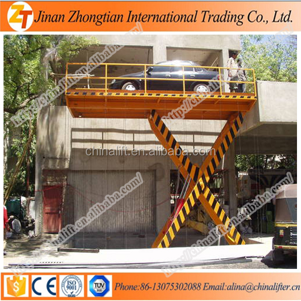 Cheap price portable hydraulic fixed car lift elevator used for home garage price