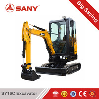SANY SY16C 1.6 ton New Mini Excavator Loader used in forest, farm & indoors