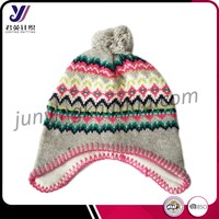 Wholesale wool felt knit cover ear beanie custom hats and caps (Accept the design draft)