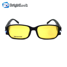 Yellow lens led light motorcycle riding glasses,night vision driving glasses