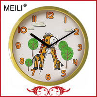 Modern Picture Plastic Quartz Wall Clock For Gift