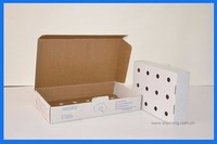 Waxed waterproof paper box scooter food delivery box frozen shrimp packing manufacturer