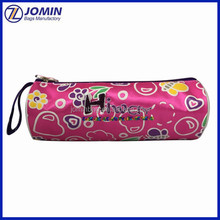 2017 new fashion round shape school pencil pouch, promotion cute stationery bag