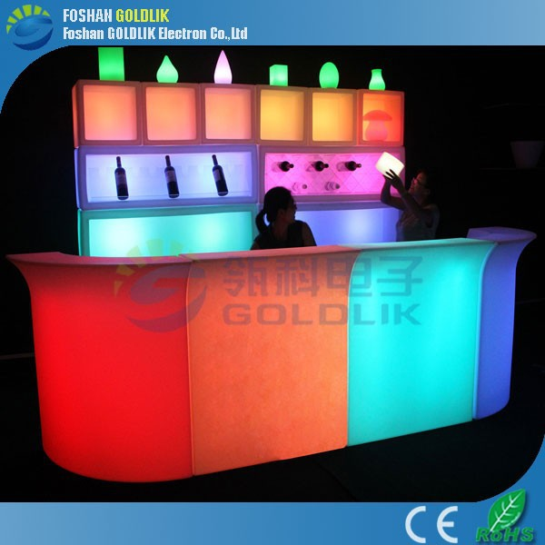 caliente de colores led bar muebles para el partidoNoche barKTVClub