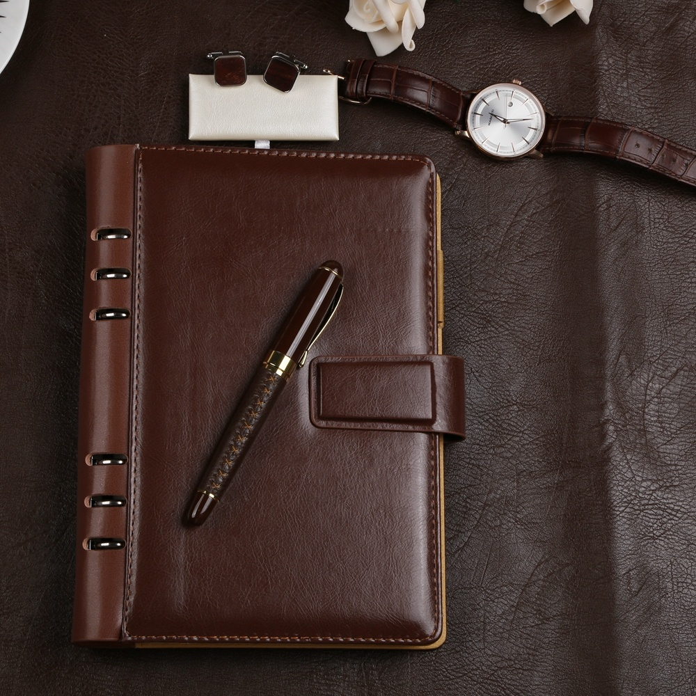 2019 New Luxury Stamped <strong>Logo</strong> A5&A6 Notebook and Pen Executive Gift Set
