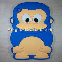 blue mini silicone tablet case/monkey silicone back case for ipad