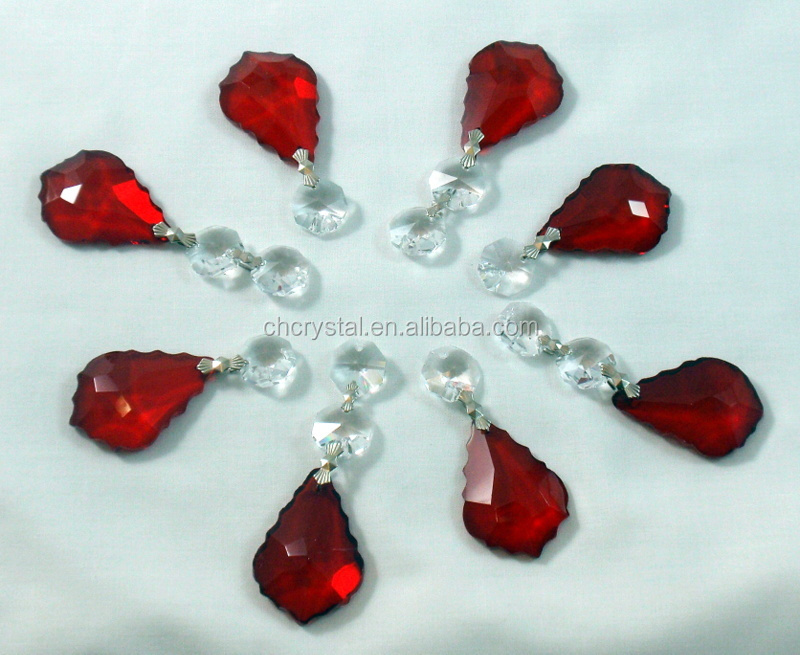 red crystal maple leaf chandelier accessories for wedding MH-12912