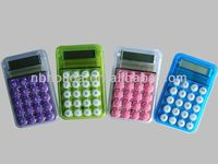8-digit promotional gift mini transparent calculator HLD-868