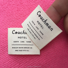 100% cotton printed wash care labels in apparels