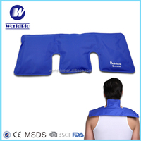 Nylon reusable gel cold and hot pack for shoulder