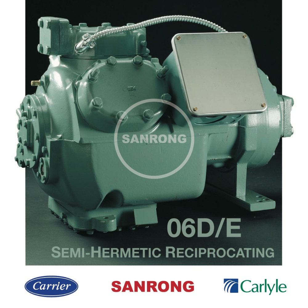 Best Carrier Chiller Compressor, Air Conditioning Compressor, Carlyle 06D 06E Semi-Hermetic Reciprocating R134a Compressor
