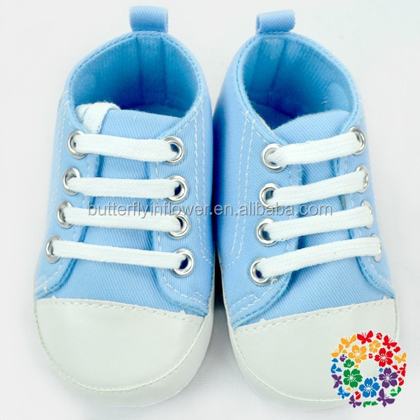 Blue Canvas Design Boys Cheap Basketball Shoes For Kids