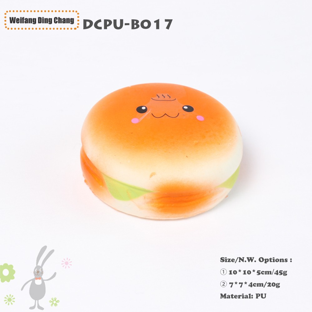 Hamburger Shaped Ultra Soft Pu Foam Squeeze Slow Rebound Stress Toy