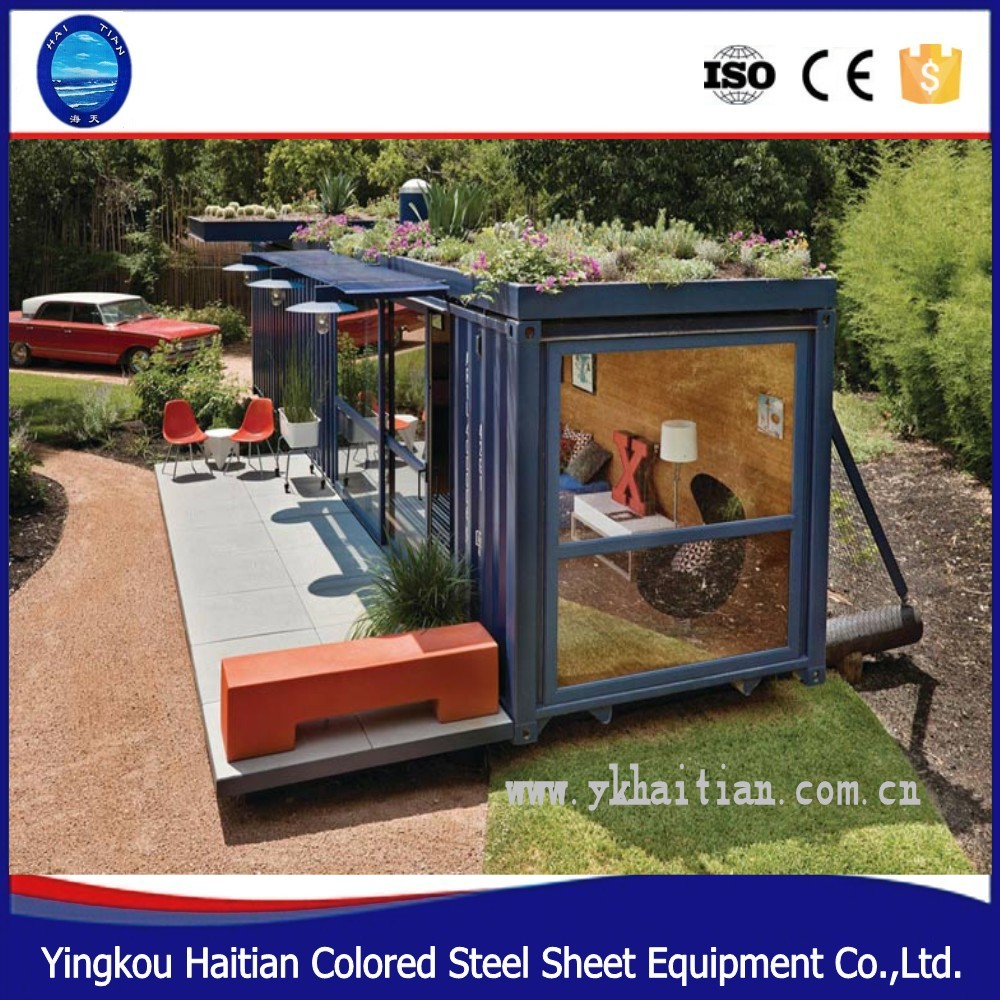 container warehouse Steel Material cheap 40ft prefab furnished shipping container barbershop movable houses for sale